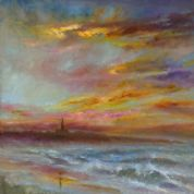 Kate Van Suddese Greeting Card - A Beautiful Walk - Longsands Tynemouth
